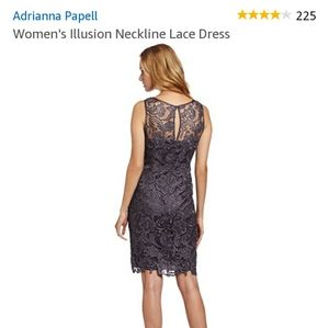 🎁Adrianna Papell Illusion Neckline Lace Dress NWT